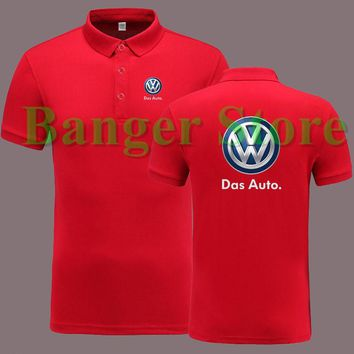 Volkswagen brand car logo for 4S shop women and men's POLO shirt short sleeve overalls work clothes