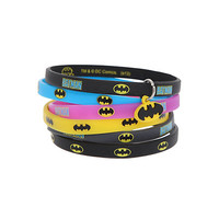 DC Comics Batman Logo Rubber Bracelet 6 Pack | Hot Topic