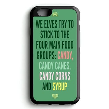 Christmas elf Quotes Funny iPhone 4s iphone 5s iphone 5c iphone 6 Plus Case | iPod Touch 4 iPod Touch 5 Case
