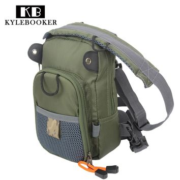 Army Green 2 Layer Fly Fishing Chest Bag Outdoor Sling Pack Fishing Sling Backpack  Fishing Tackle Bag