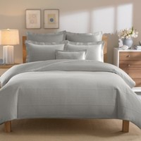Real Simple® Linear Duvet Cover in Grey