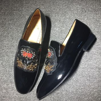 Cl Christian Louboutin Loafer Style #2417 Sneakers Fashion Shoes