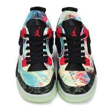 Hot Air Jordans 4 Women Shoes Maple Glow In The Dark Sole