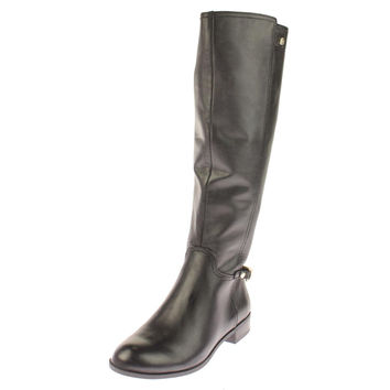 Anne Klein Womens Kacey Leather Harness Riding Boots