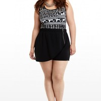 Plus Size Lizzy Ponte Zip Shorts | Fashion To Figure