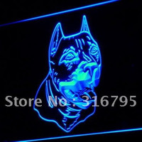 j233 American Pit bull Dog Terrier LED Neon Light Sign On/ Off Switch 7 colors DHL