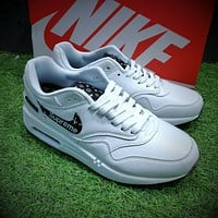 Best Online Sale Supreme x Louis Vuitton x Nike Air Max 1 Custom LV x Sup White Black