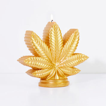 Marijuana Leaf Candle | FIREBOX\u00ae