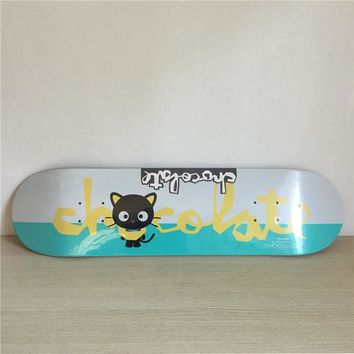 "Black Kitty 8"" Canadian Maple Grey Skateboard Deck"