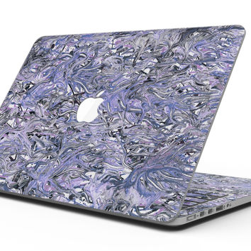 Abstract Wet Paint Purples v3 - MacBook Pro with Retina Display Full-Coverage Skin Kit