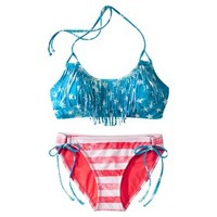 Xhilaration® Junior's 2-Piece Swimsuit -Americana Print