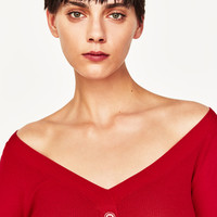 SWEATER WITH BUTTONS - NEW IN-WOMAN   ZARA United States