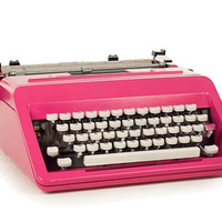 Customised Typewriter Pink