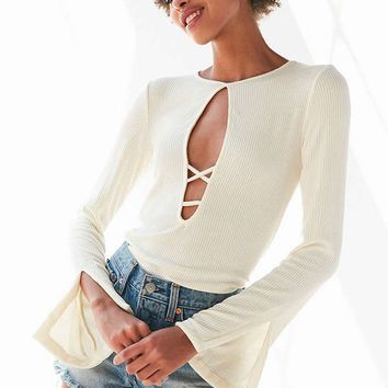 Project Social T Grace Strappy Plunging Top | Urban Outfitters