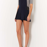 Navy Kilt Pinafore Playsuit - Rompers and Jumpsuits - Clothing - Topshop USA