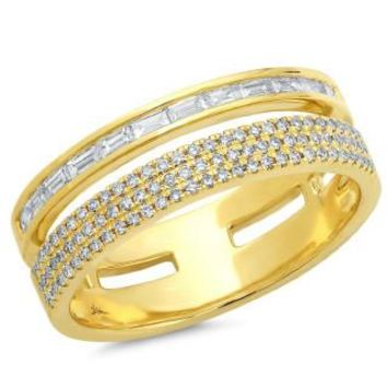 0.54ct 14k Yellow Gold Diamond Baguette Lady's Ring
