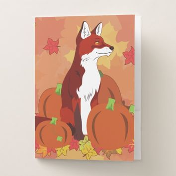 A Fox In the Pumpkin Patch Pocket Folder