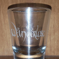 Laser Engraved Wanderlust Shot Glass in LOTRS Font ~ Travel ~ Party Favor