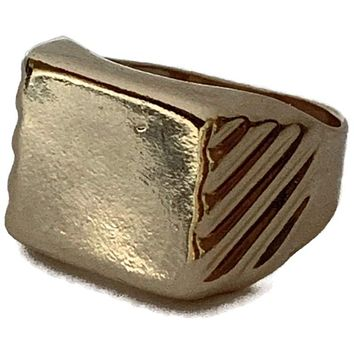 Signet 18KTS GOLD PLATED RING