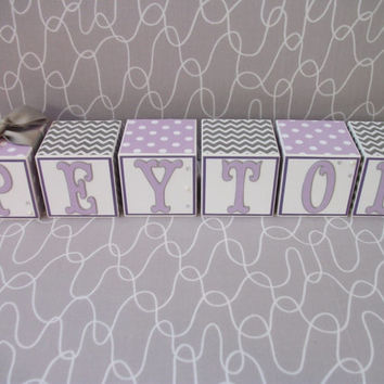 Wooden Name Blocks Baby Newborn