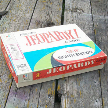 Vintage Jeopardy Game Eighth Edition 1964 Milton Bradley