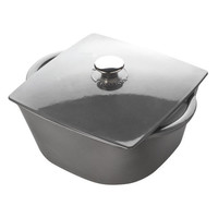 6 Quart Grey Rounded Square Dutch Oven