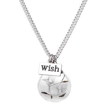 Make a Wish Real Dandelion Seed Necklace