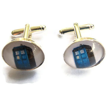 Tardis Cuff Links, Doctor Who Wedding, Geeky Groomsmen Gifts