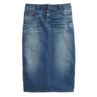 J.Crew Womens Denim Pencil Skirt