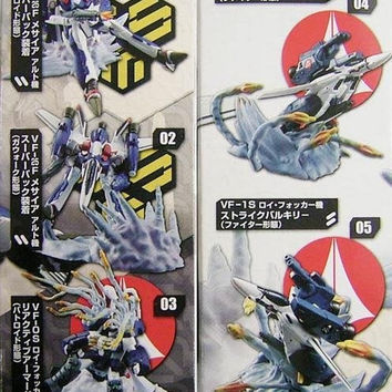 Robotech Macross Frontier Solid Archive 5 Trading Collection Figure Set