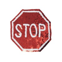 Sequin STOP SIGN Patch Kit