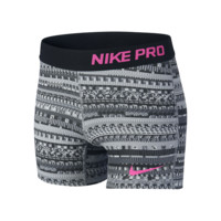 "Nike 3"" Pro Allover Print Girls' Training Shorts"