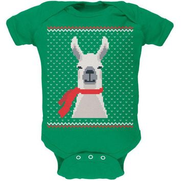 DCCKJY1 Ugly Christmas Sweater Big Llama Soft Baby One Piece