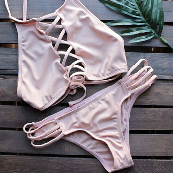Pink Swimsuit swimwear Set Beach Bathing Suits Summer Gift 220