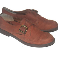 Vintage Brown Leather Loafers, Rockports,  Antique Alchemy