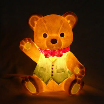 1970s Bear Nightlight Vintage Children's Nursery Decor jazzjodi