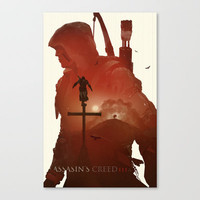 Assasins Creed 3 Stretched Canvas by Duke Dastardly