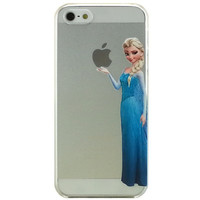 Frozen Elsa Holding cartoon  apple Halloween Clear Transparent Case For Apple iPhone 6 6 PLUS