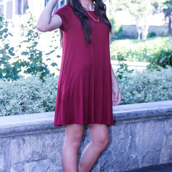 Weekend Fun Dress: Burgundy