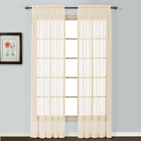 United Curtain Co. Charlotte Lace Window Panel - 56'' x 63''