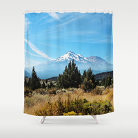 Mt. Shasta Shower Curtain by sylviacookphotography