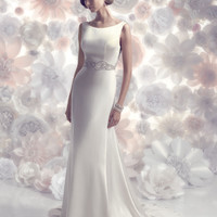 CB Couture B088 Open Back Sheath Wedding Dress