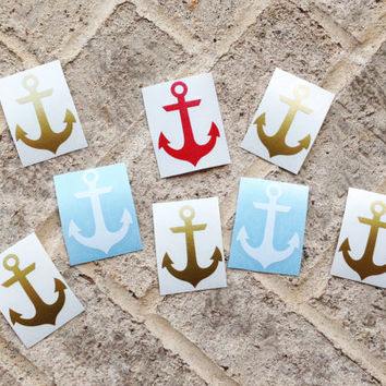 Anchor Vinyl Decal Sticker - DIY - for car Window, car decal, laptop, cell phone, tumbler, mason jars, cups, camelbak, binders, etc.