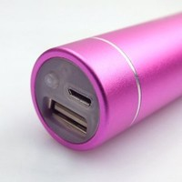 2800mAh Flashlight Portable Power Bank Micro USB External Backup Battery Charger for iPhones, Samsung, HTC, Motorola, Nokia Smartphones (Hot Pink)