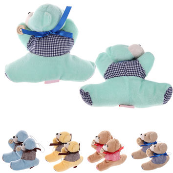 1 Pair Teddy Bear Window Curtain Tieback Animal Cartoon Plush Tie Back Decor Holder Buckle Holdback Belt Hooks Clip Clasps