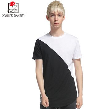 New Fashion Brand 2017 Male Slim Fit T Shirt Black And White Mens Cotton Short Sleeve T-Shirts Men Summer Tee Casual Tshirt Men