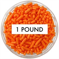 Orange Jimmies 1 LB