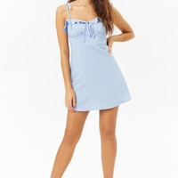 Ruffle-Trim Mini Dress
