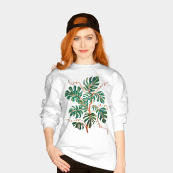 MonsteraMonstera Deliciosa Crewneck By 83Oranges Design By Humans