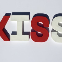 KISS Valentines Letters (Self Standing Bock Letters)